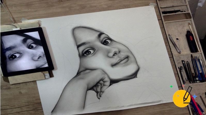آموزش حرفه ای نقاشی سیاه قلم چطور انجام می شود؟