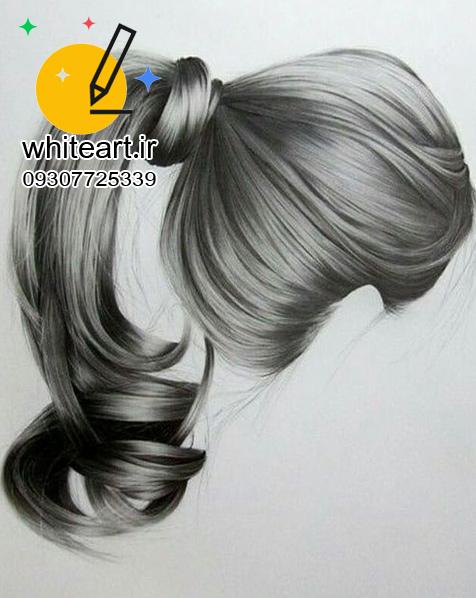 آسان ترین آموزش طراحی مو به روش سیاه قلم