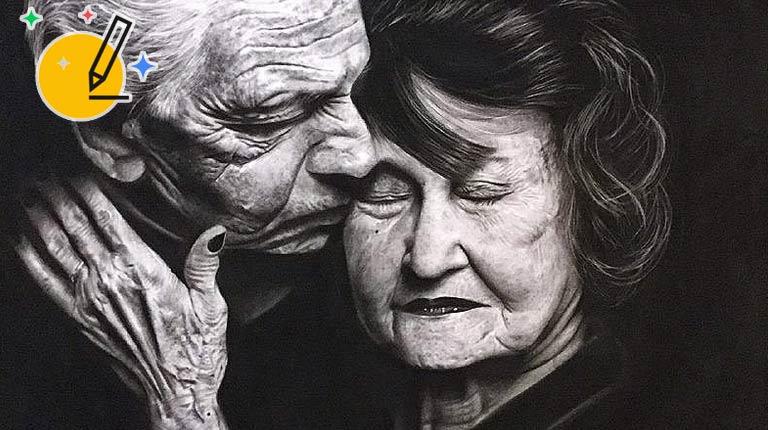 نقاشی مدرن به سبک سیاه قلم