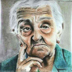 سفارش آنلاین نقاشی چهره سیاه قلم