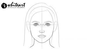 روش طراحی چهره زن با مداد