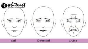 چگونه چهره ناراحت را طراحی کنیم؟