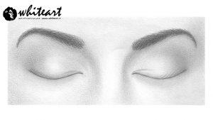 چگونه چشمان بسته را طراحی کنیم؟